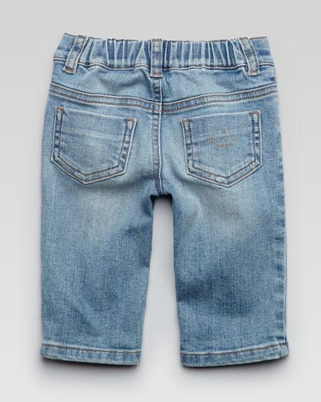 Basic Denim Jean w/ Logo Pocket