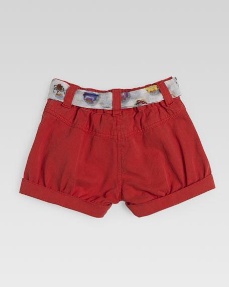 Shorts with Cupcake Sash, Coral