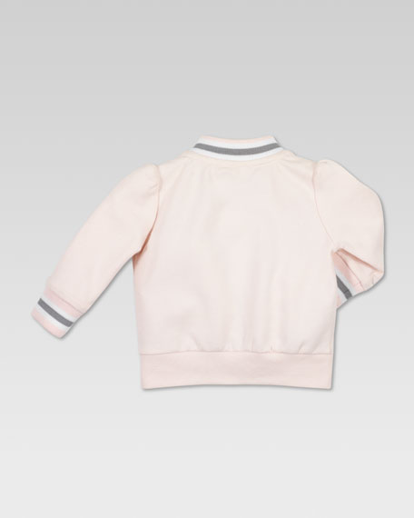 Gucci-Trim Zip Jacket, Powder Pink