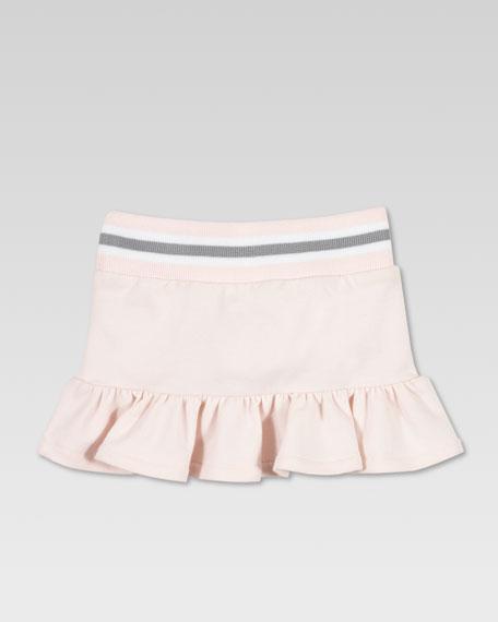 Jersey Ruffle Skirt, Powder Pink
