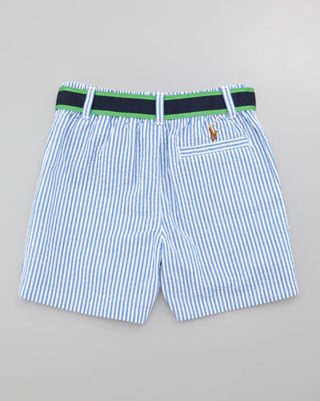 Polo Shirt & Seersucker Shorts Set, 12-24 Months