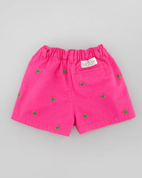 Baby Schiffli Embroidered Chino Shorts