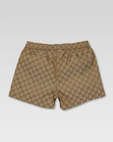 GG Swim Shorts, Beige/Ebony