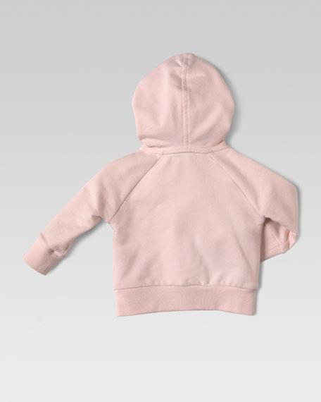 Jersey GG-Trim Hoodie, Light Pink