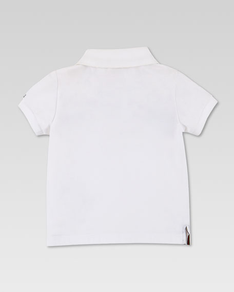 Short-Sleeve Web Jersey Polo, White