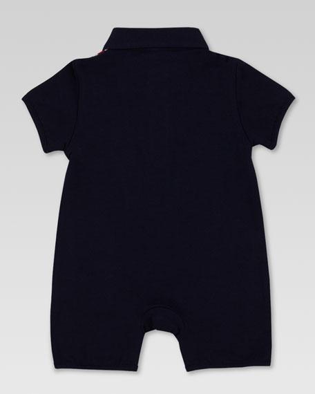 Striped Short Playsuit, Navy
