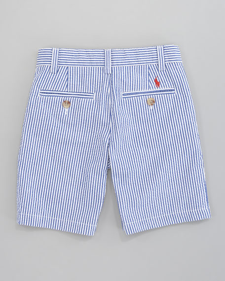Preppy Seersucker Shorts, Sizes 8-10