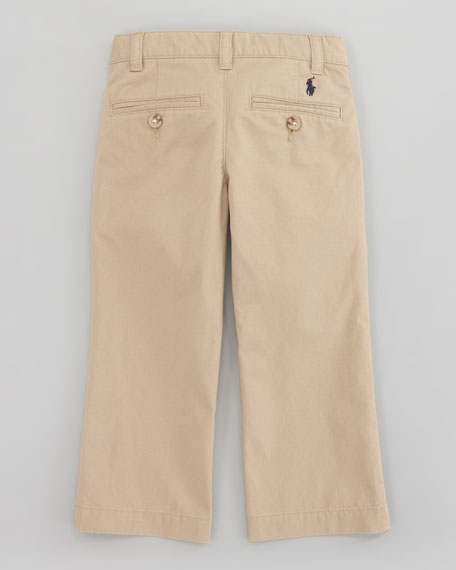 Suffield Flat-Front Pants, Boating Khaki, Sizes 8-10
