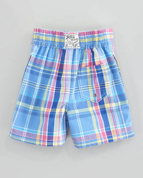 Blue Sanibel Swim Trunks, Sizes 8-10