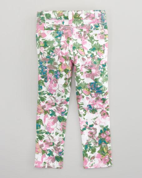 The Skinny Kauai Floral-Print Jeans, Sizes 2T=3T