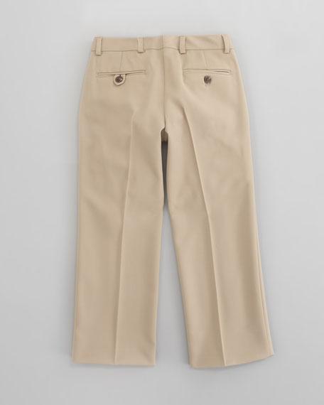 Double Pleated Woodsman Pants, Sizes 2-4
