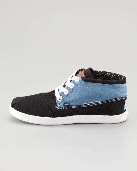 Colorblock Botas Shoe, Blue/Black, Youth