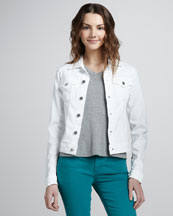 AG Adriano Goldschmied Robyn Denim Jacket, White