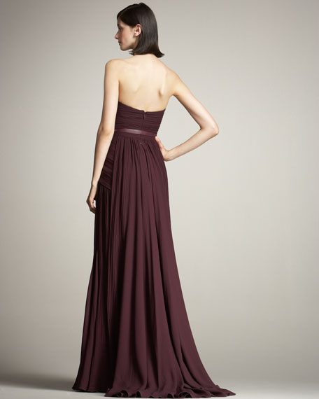 Strapless Draped Gown