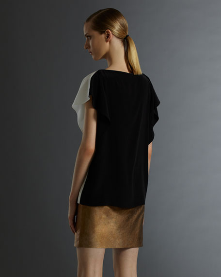 Leather T-Shirt Dress