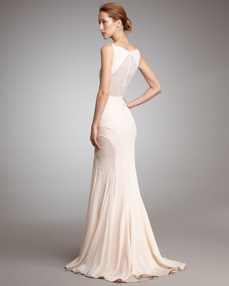 Contour-Seamed Slip Gown