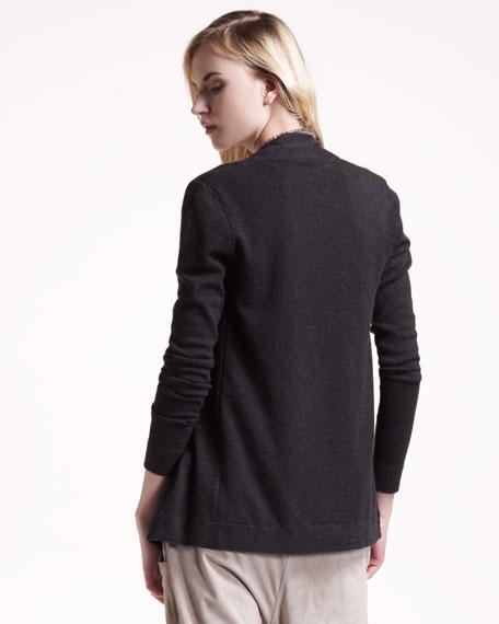 Asymmetric Silk-Cashmere Cardigan