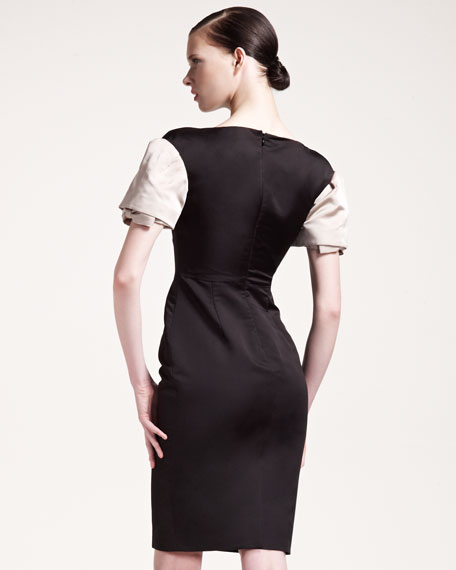 Layered-Sleeve Dress