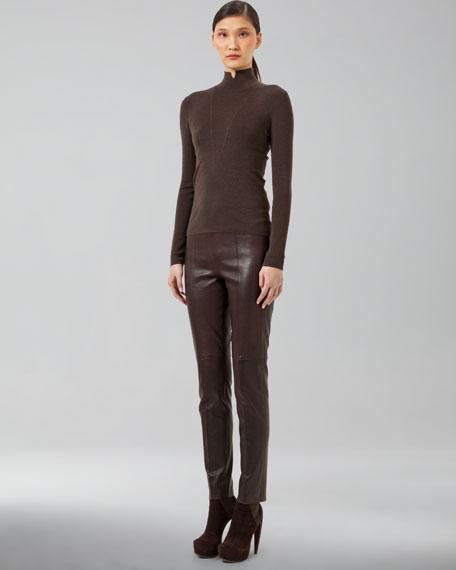 Melissa Stretch-Leather Pants