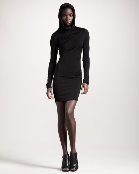 Hooded Long-Sleeve Dress