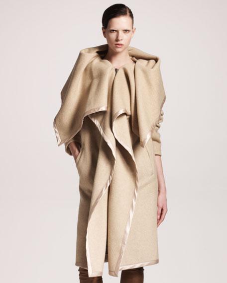 Oversized-Collar Coat