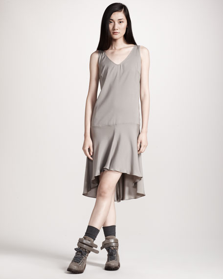 Cashmere Top with Silk Cami Dress