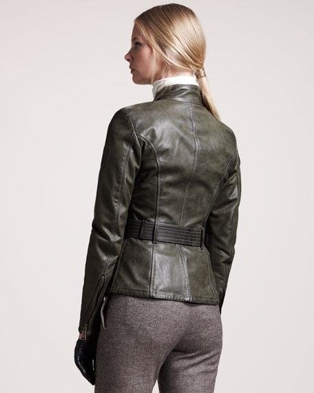 Triumph Waxed Leather Jacket