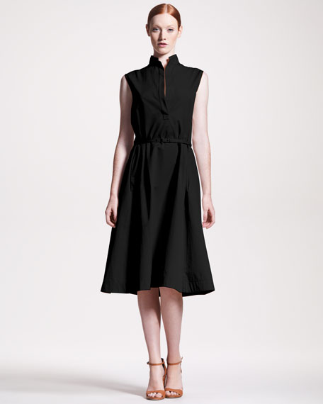A-Line Belted Dress