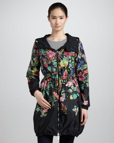 Reversible Floral-Print Anorak Jacket