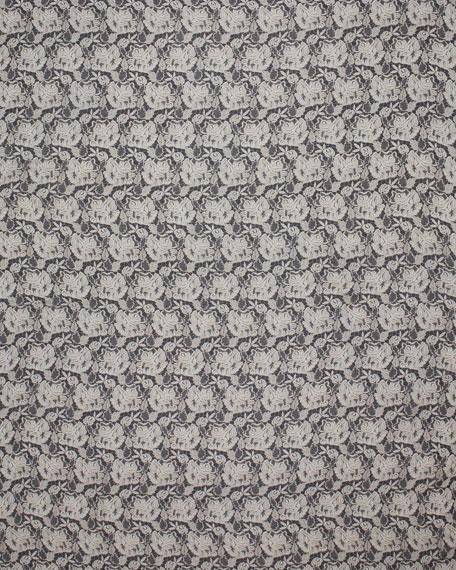 Lace-Print Scarf