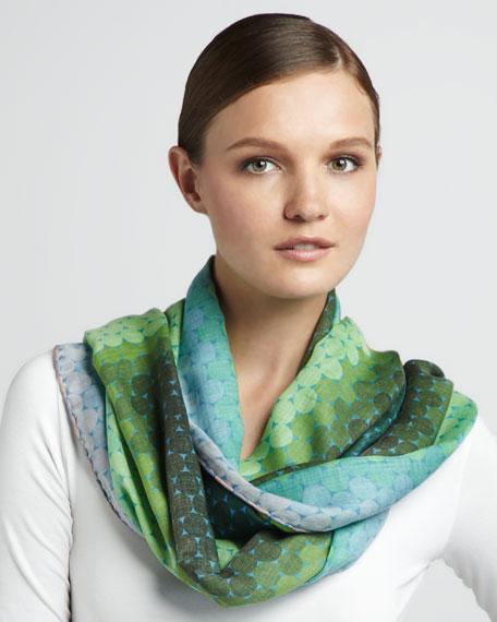 Ombre Modal Scarf, Green/Blush
