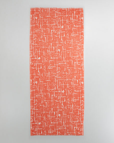 Abstract-Print Nuvola Stole, Vendange d'Orange