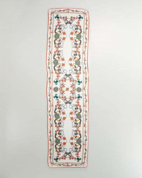 Thalassa Printed Silk Scarf