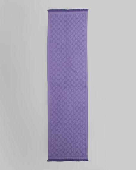 Stencil GG Logo Scarf, Lilac/Dark Purple