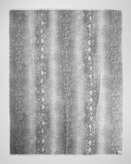Python-Print Scarf, Gray