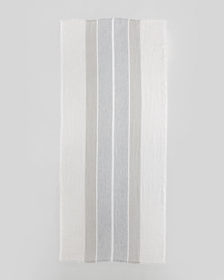 Cadaques Metallic Linen Stole