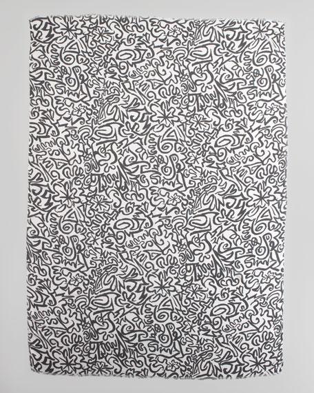 Chalk Print Scarf