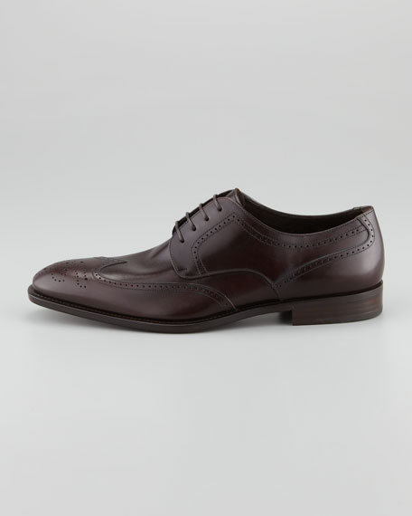 Taylor Lace-Up Wing-Tip Derby Shoe