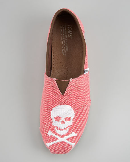 Skull Slip-On, Salmon