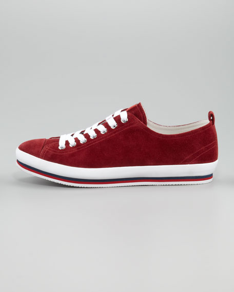 Suede Sneaker, Red