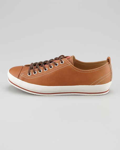 Cap-Toe Leather Sneaker, Brown