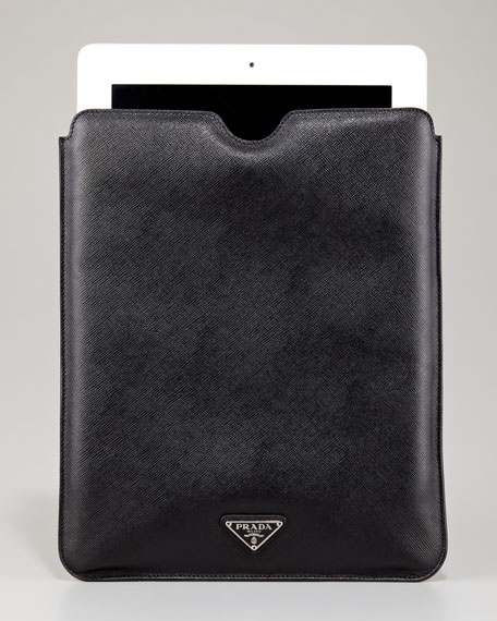 Saffiano iPad Case, Black