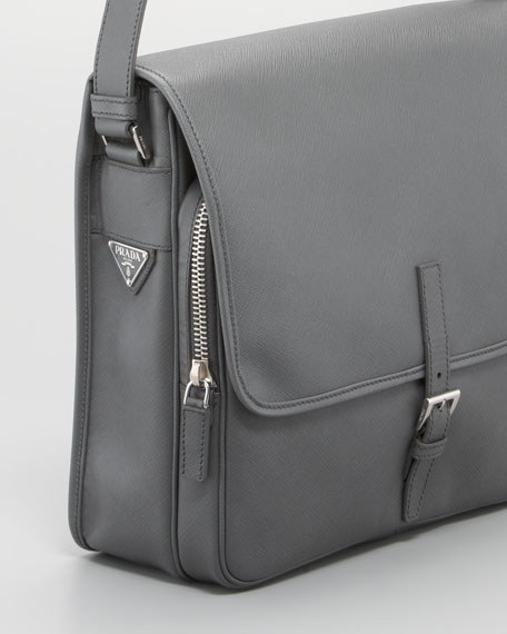 Saffiano Small Messenger Bag