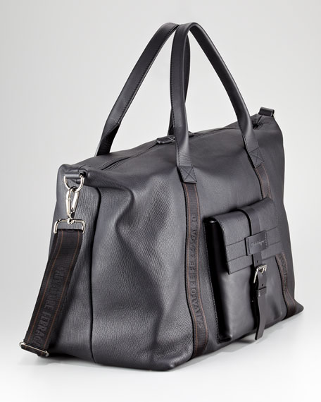 Alpha Leather Duffel Bag