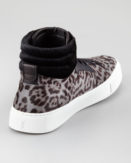 Malibu Calf-Hair High-Top Sneaker
