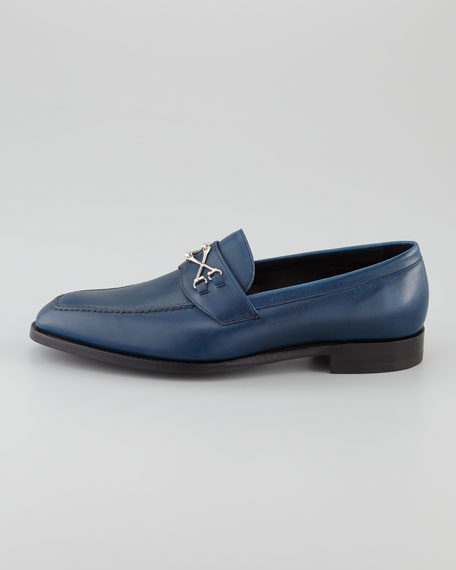 Wolfe Crossbones Loafer, Navy