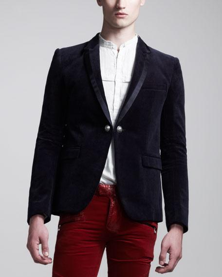 Chain-Link Tuxedo Jacket