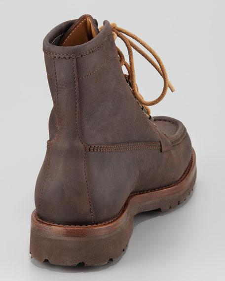 Moc-Toe Leather Boot