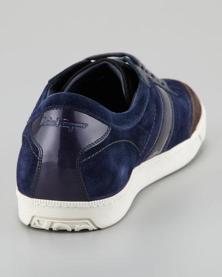 Marling Low-Top Suede Sneaker, Blue