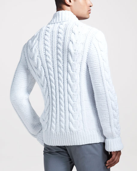 Hand-Knit Cable Cardigan